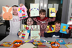 Sara Teefy, Fionn Murphy, Neassa McDermot and Tom&aacute;s Everitt at the Easter Craft Workshop in Drogheda Library.<br /> <br /> Photo: Jenny Matthews