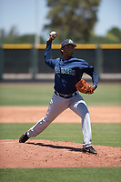 Seattle Mariners relief pitcher Jose Canela (30) delivers a pitch during an Extended Spring Training game against the San Francisco Giants Orange at the San Francisco Giants Training Complex on May 28, 2018 in Scottsdale, Arizona. (Zachary Lucy/Four Seam Images)