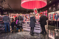 Victoria's Secret store the Queens Center Mall in the borough of Queens in New York on the so-called Super Saturday, December 17,  2016. Because Christmas Eve and Hanukah both fall on Saturday this was the last full day of Saturday shopping before the holiday.  (© Richard B. Levine)