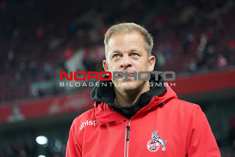 08.02.2019, RheinEnergieStadion, Koeln, GER, 2. FBL, 1.FC Koeln vs. FC St. Pauli,<br />  <br /> DFL regulations prohibit any use of photographs as image sequences and/or quasi-video<br /> <br /> im Bild / picture shows: <br /> Markus Anfang Trainer, Headcoach (1.FC Koeln),<br /> <br /> Foto &copy; nordphoto / Meuter