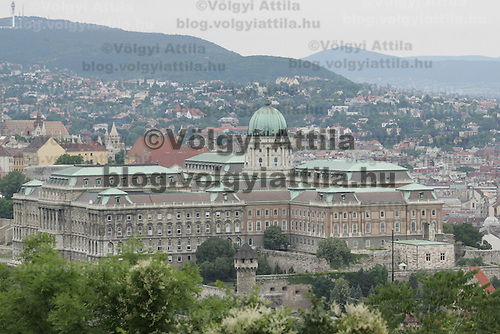 View of the Castle of Buda in Budapest, Hungary on June 10, 2009. ATTILA VOLGYI