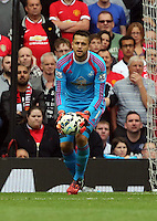 Pictured: Swansea goalkeeper Lukasz Fabianski. Saturday 16 August 2014<br />