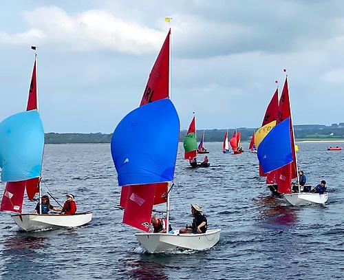 Mirror dinghy racing in Sligo Bay