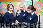 Presentation Secondary Tralee Graduations on Friday pictured l-r  Carrie O'Connor, Lavina Murphy and Sophie O'Sullivan
