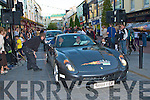 Some of the sports cars at the Cannonball Run arriving in Killarney on Friday evening ..
