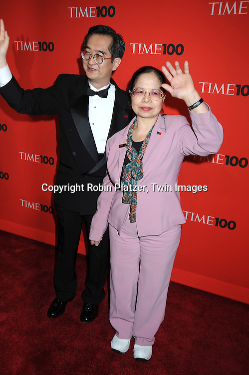 honoree Chen Shu-Chu posing for photographers at the Time Celebrates the Time100 Issue Gala on May 4, 2010 at The Time Warner Center in New York City. The magazine celebrates the 100 Most Influential People in the World.