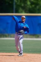 Toronto Blue Jays Leonardo Jimenez (52) during a Minor League Spring Training Intrasquad game on March 14, 2018 at Englebert Complex in Dunedin, Florida.  (Mike Janes/Four Seam Images)