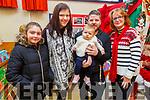 Emily Keane, Stephanie Nix and Fiadh and Damien O'Ciosáin with Maura Moore attending Gaeil Scoil Mhic Easmainn Food fair in the school on Sunday.