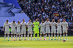 Garet Bale, Danilo Luiz da Silva, Luka Modric, Kleper Lima Ferreira Pepe, Toni Kroos, Kiko Casilla,  Isco Alarcon ,-m5, -Karim Benzema, Nacho Fernandez, Cristiano Ronaldo of Real Madrid during the match of  La Liga between Real Madrid and Deportivo Alaves at Bernabeu Stadium Stadium  in Madrid, Spain. April 02, 2017. (ALTERPHOTOS / Rodrigo Jimenez)