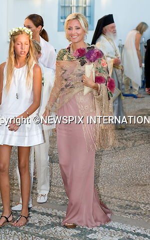 "Princess Marie-Chantal_.The Wedding of Prince Nikolaos and Tatiana Blatnik attended by many members of European Royalty at St Nikolaos Church on the Island of Spetses_Grecce_24/08/2010.Mandatory Credit Photo: ©DIAS-NEWSPIX INTERNATIONAL..**ALL FEES PAYABLE TO: ""NEWSPIX INTERNATIONAL""**..IMMEDIATE CONFIRMATION OF USAGE REQUIRED:.Newspix International, 31 Chinnery Hill, Bishop's Stortford, ENGLAND CM23 3PS.Tel:+441279 324672  ; Fax: +441279656877.Mobile:  07775681153.e-mail: info@newspixinternational.co.uk"