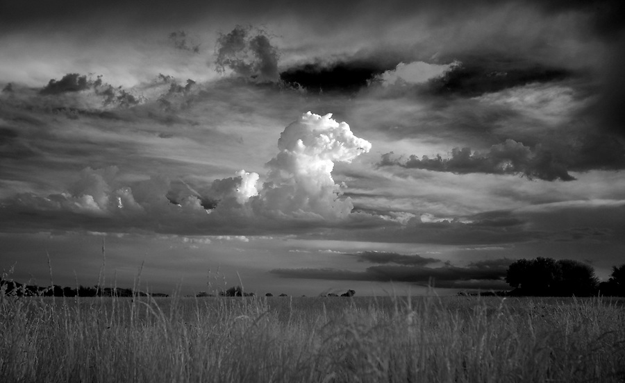Afternoon clouds over a field in Greene County, VA. Photo/Andrew Shurtleff