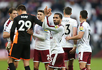 Burnley's Aaron Lennon applauds the fans at the end of the game<br /> <br /> Photographer Rob Newell/CameraSport<br /> <br /> The Premier League - West Ham United v Burnley - Saturday 10th March 2018 - London Stadium - London<br /> <br /> World Copyright &not;&copy; 2018 CameraSport. All rights reserved. 43 Linden Ave. Countesthorpe. Leicester. England. LE8 5PG - Tel: +44 (0) 116 277 4147 - admin@camerasport.com - www.camerasport.com