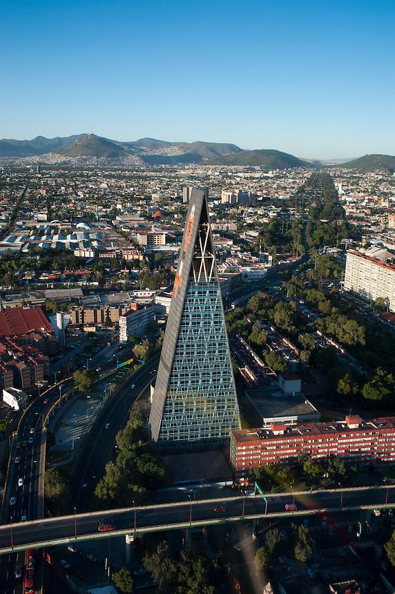 Torre Insignia, Mario Pani Architect, Tlatelolco, Mario Pani. Aerial photos of Mexico City, Mexico