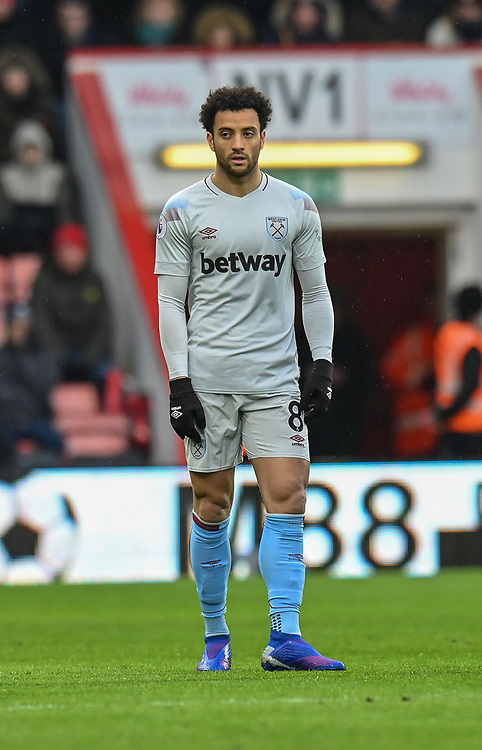 West Ham United's Felipe Anderson <br /> <br /> Photographer David Horton/CameraSport<br /> <br /> The Premier League - Bournemouth v West Ham United - Saturday 19 January 2019 - Vitality Stadium - Bournemouth<br /> <br /> World Copyright &copy; 2019 CameraSport. All rights reserved. 43 Linden Ave. Countesthorpe. Leicester. England. LE8 5PG - Tel: +44 (0) 116 277 4147 - admin@camerasport.com - www.camerasport.com
