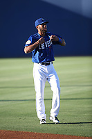 Amed Rosario (1) of the Las Vegas 51s before a game against the Sacramento River Cats at Cashman Field on June 15, 2017 in Las Vegas, Nevada. Las Vegas defeated Sacramento, 12-4. (Larry Goren/Four Seam Images)