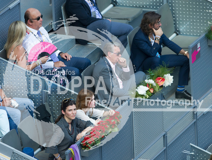Manolo Santana; Javier Hidalgo during the Rafael Nadal vs Grigor Dimitrov tennis match