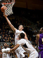 David Kravish of California shoots the ball during the game against SFSU at Haas Paviliion in Berkeley, California on November 6th, 2012.  California defeated San Francisco State, 89-80.