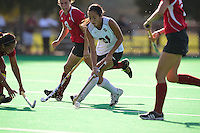 STANFORD, CA - SEPTEMBER 9, 2011: Stanford field hockey takes on Indiana University at the Varsity Turf at Stanford University in Stanford, California on September 9, 2011.  Stanford won, 3-2.