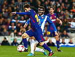 25th September 2018, Camp Nou, Barcelona, Spain; Copa del Rey football, quarter final, second leg, Barcelona versus Espanyol; Leo Messi control the ball