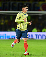 BOGOTA - COLOMBIA, 03-06-2019: James Rodriguez de Colombia en acción durante partido amistoso entre Colombia y Panamá jugado en el estadio El Campín en Bogotá, Colombia. / James Rodriguez of Colombia in action during a friendly match between Colombia and Panama played at Estadio El Campin in Bogota, Colombia. Photo: VizzorImage / Nelson Rios / Cont