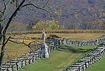 The Bloody Lane, scene of fierce fighting on September 17, 1862,  Antietam National Battlefield, Sharpsburg. Maryland, USA