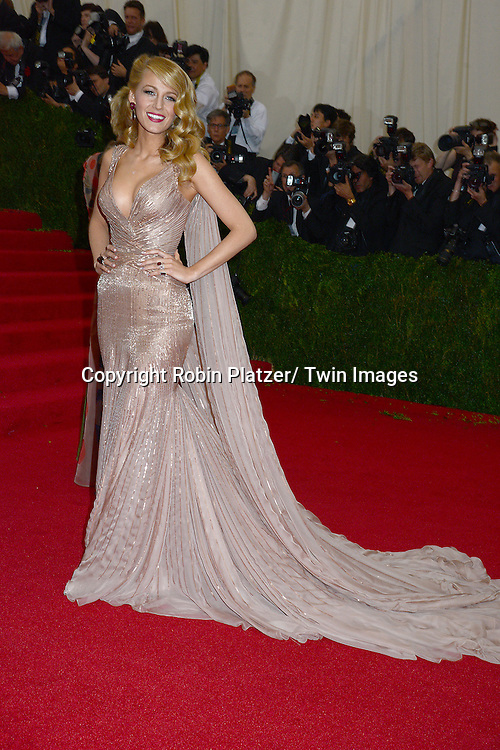 Blake Lively attends the Costume Institute Benefit on May 5, 2014 at the Metropolitan Museum of Art in New York City, NY, USA. The gala celebrated the opening of Charles James: Beyond Fashion and the new Anna Wintour Costume Center.