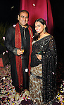 """Sandeep Khandelwal and Ruchi Mukherjee at the Museum of Fine Arts Houston's 2013 Grand Gala """"India"""" Friday Oct. 04,2013.(Dave Rossman photo)"""