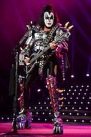 ALBUQUERQUE NM - AUGUST 7:  Gene Simmons of Kiss performs at the Hard Rock Casino Albuquerque on August 7, 2012 in Albuquerque, New Mexico. /NortePhoto.com<br /> <br />  **CREDITO*OBLIGATORIO** *No*Venta*A*Terceros*<br /> *No*Sale*So*third* ***No*Se*Permite*Hacer Archivo***No*Sale*So*third*