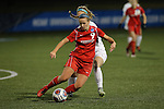 SALEM, VA - DECEMBER 3:Jessica Kovach (9) moves the ball up the field during theDivision III Women's Soccer Championship held at Kerr Stadium on December 3, 2016 in Salem, Virginia. Washington St Louis defeated Messiah 5-4 in PKs for the national title. (Photo by Kelsey Grant/NCAA Photos)