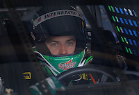Mar 31, 2007; Martinsville, VA, USA; Nascar Nextel Cup Series driver J.J. Yeley (18) during practice for the Goody's Cool Orange 500 at Martinsville Speedway. Martinsville marks the second race for the new car of tomorrow. Mandatory Credit: Mark J. Rebilas