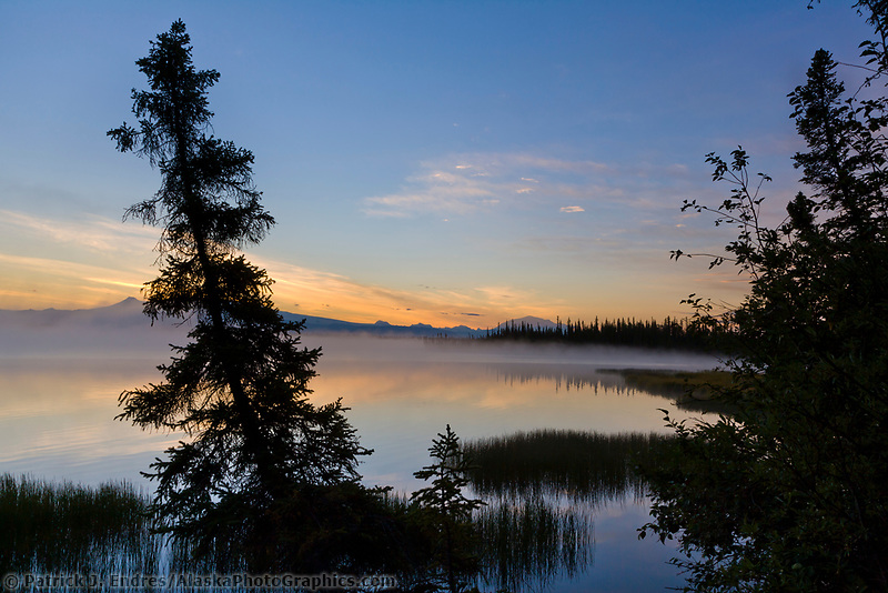 Mount wrangell and mount Blackburn (16390 ft.), Wrangell Mountains, Wrangell St. Elias National Park, Alaska.