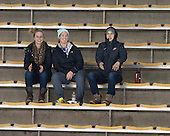 BC alum Megan Shea, Dru Burns and Maggie Taverna - The Boston College Eagles defeated the visiting University of Vermont Catamounts 2-0 on Saturday, January 18, 2014, at Kelley Rink in Conte Forum in Chestnut Hill, Massachusetts.