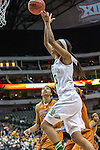 forward Nina Davis (13) in action during Big 12 women's basketball championship final, Sunday, March 08, 2015 in Dallas, Tex. (Dan Wozniak/TFV Media via AP Images)