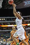 forward Nina Davis (13) in action during Big 12 women's basketball championship final, Sunday, March 08, 2015 in Dallas, Tex. (Dan Wozniak/TFV Media via AP Images)