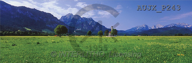 Dr. Xiong, LANDSCAPES, panoramic, photos, Foot of the Alps, Schwangau, Germany(AUJXP243,#L#)