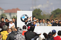 Jamie Donaldson (WAL) tees off the 7th tee during Sunday's Final Round of the 2014 BMW Masters held at Lake Malaren, Shanghai, China. 2nd November 2014.<br /> Picture: Eoin Clarke www.golffile.ie