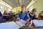 Girls in class in Pida, a village in Nepal's Dhading District where the United Methodist Committee on Relief (UMCOR), a member of the ACT Alliance, is helping families to rebuild their lives in the wake of the 2015 earthquake that ravaged much of Nepal.