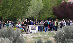 Nearly 100 people participate in the third annual Veterans Suicide Awareness March in Carson City, Nev., on Saturday, May 6, 2017. The event, hosted by the Western Nevada College Student Veterans Club and the Veterans Resource Center, raises awareness of the more than 8,000 veteran suicides each year in the U.S. For more information or help, go to www.wnc.edu/veterans-resource-center/ or call 800-273-8255. <br /> Photo by Cathleen Allison/Nevada Photo Source