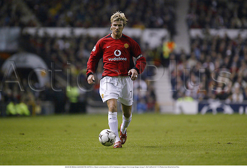 DAVID BECKHAM, MANCHESTER UNITED 2 v Bayer Leverkusen 0, UEFA Champions League First Group Stage, Group F, Old Trafford 021113 Photo:Glyn Kirk/Action Plus...Soccer football 2002.........