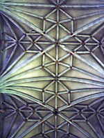 Canterbury: Canterbury Cathedral--Nave vaulting.