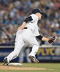 Masahiro Tanaka (Yankees), JUNE 9, 2015 - MLB : New York Yankees starting pitcher Masahiro Tanaka tries to catch the ball during a baseball game against the Washington Nationals at Yankee Stadium in New York, United States. (Photo by AFLO)