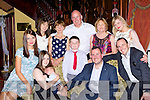 Tim O'Sullivan and Susan Pasterz both Beaufort celebrated the christening of their son Leon with their family in the Killarney Avenue hotel on Saturday afternoon front row l-r: Agata and Susan Pasterz, Leon,Tim and Rowan O'Sullivan. Back row: Halina and Jadawija Pasterz, Rían, Tadhg, Bernie and Noírin O'Sullivan