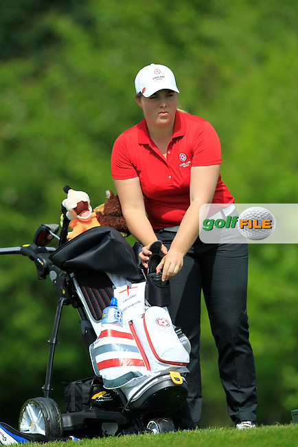Alice Hewson (ENG) on the 7th tee during Round 1 of the Irish Women's Open Strokeplay Championship at Dun Laoghaire Golf Club on Saturday 23rd May 2015.<br /> Picture:  Thos Caffrey / www.golffile.ie