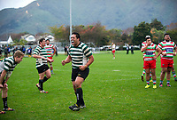 Action from the Swindale Shield Wellington premier club rugby match between Hutt Old Boys Marist and Old Boys University at the Hutt Recreation Ground in Lower Hutt, Wellington, New Zealand on Saturday, 27 May 2017. Photo: Dave Lintott / lintottphoto.co.nz