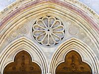 ITA, Italien, Umbrien, Assisi: Basilika San Francesco - Hauptportal (Detail) | ITA, Italy, Umbria, Assisi: Basilica San Francesco - main portal