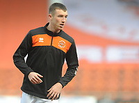 Blackpool's Chris Long during the pre-match warm-up <br /> <br /> Photographer Kevin Barnes/CameraSport<br /> <br /> The EFL Sky Bet League One - Blackpool v Plymouth Argyle - Saturday 30th March 2019 - Bloomfield Road - Blackpool<br /> <br /> World Copyright © 2019 CameraSport. All rights reserved. 43 Linden Ave. Countesthorpe. Leicester. England. LE8 5PG - Tel: +44 (0) 116 277 4147 - admin@camerasport.com - www.camerasport.com