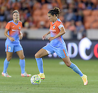 Carli Lloyd (10) of the Houston Dash brings the ball up the field in the second half against the Chicago Red Stars on Saturday, April 16, 2016 at BBVA Compass Stadium in Houston Texas.