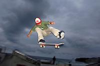 Skate Park, Bondi beach, Sydney Australia.<br /> Pictures James Horan