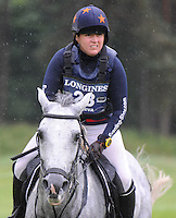 Blair Atholl, Scotland, UK. 12th September, 2015. Longines  FEI European Eventing Championships 2015, Blair Castle. Elnira Nabieva (RUS) riding Chabana during the Cross country phase © Julie Priestley