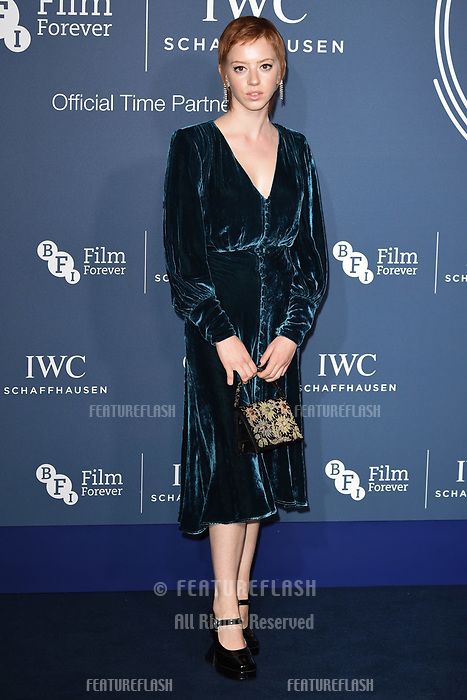 LONDON, UK. October 09, 2018: Lilly Newmark arriving for the 2018 IWC Schaffhausen Gala Dinner in Honour of the BFI at the Electric Light Station, London.<br /> Picture: Steve Vas/Featureflash